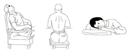 Рис. 4 Сидячие позы для ГВТ
