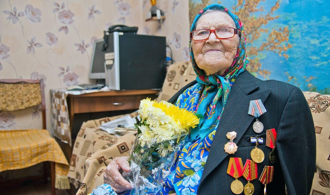 Долгожительница Анищук Екатерина Трофимовна